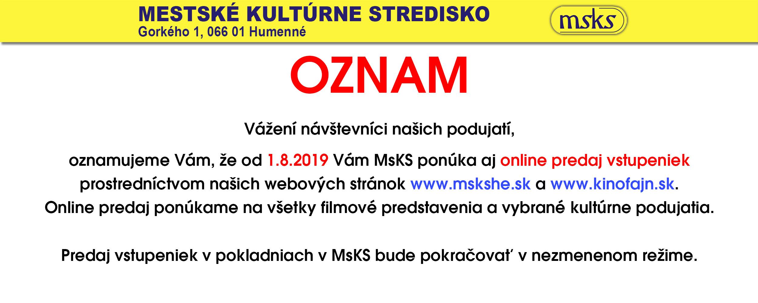 Online Predaj