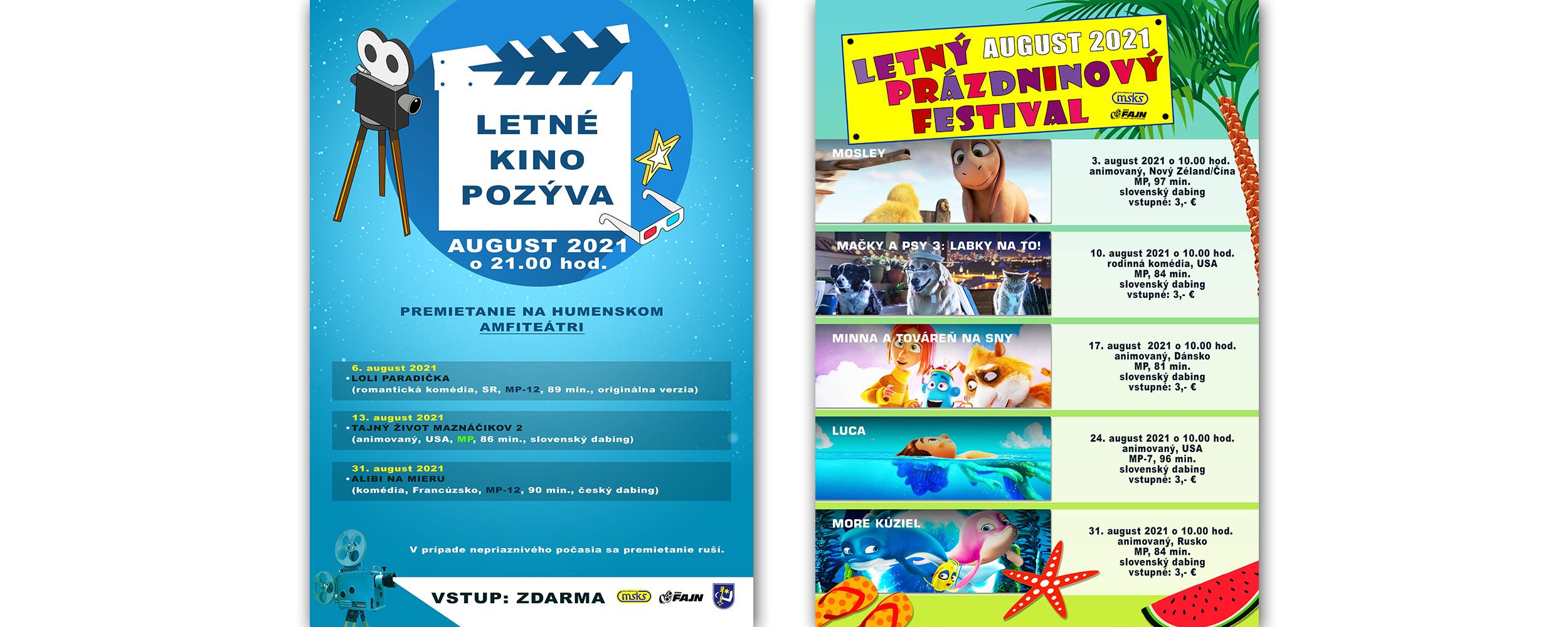 Letné Kino Prazdn Festival August