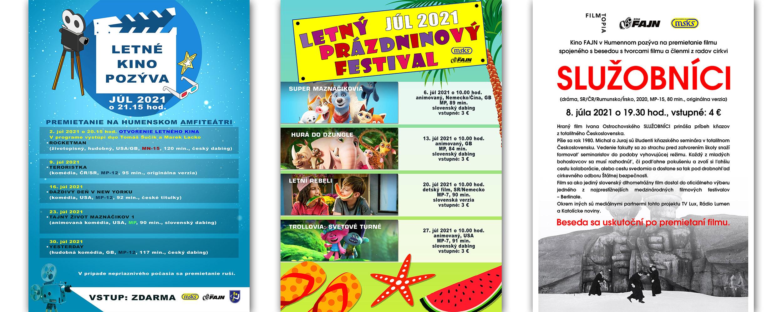 Letné Kino Prazdn Festival Služobnici